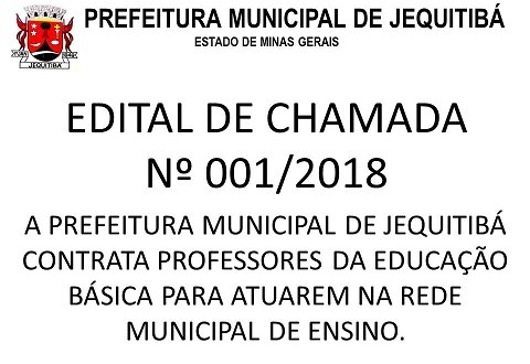 EDITAL DE CHAMADA Nº001