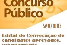 Edital de Convocação nº013/2017 -CP n001/2016