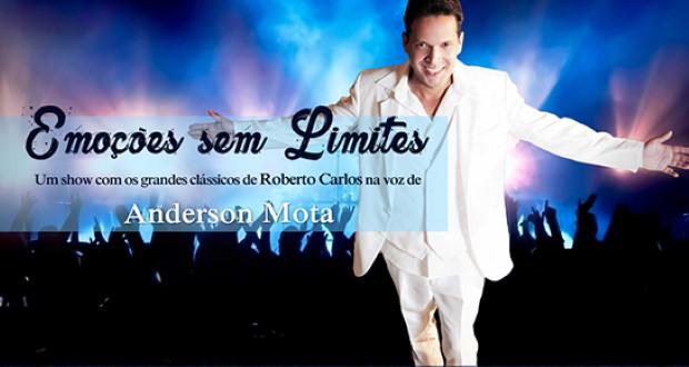 Anderson Motta presta homenagem a Roberto Carlos em show de 'Emoções Sem Limites'
