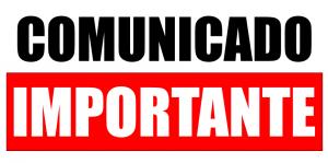 Atenção ! Comunicado importante!