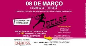 Prefeitura promove caminhada e corrida no Dia Internacional da Mulher