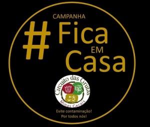 LOGO CAMPANHA FICA EM CASA CIRCUITO DAS GRUTAS